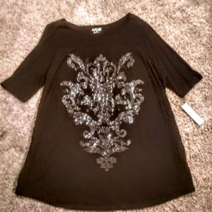 NWT Apartment 9 embellished crested XL blouse